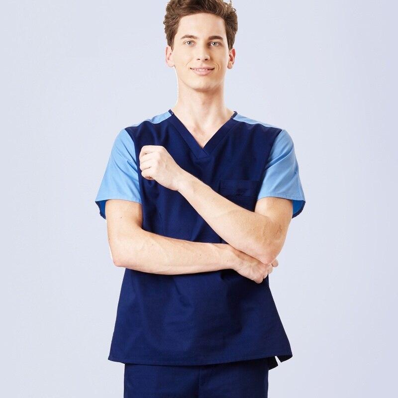 Plus size 4XL Work Clothing Women and Men Hospital Doctor Short Sleeve Medical Uniform Surgical Isolation Medical Scrubs Sets