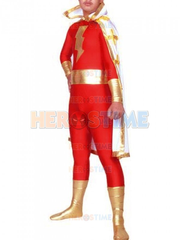 Marvel Family Red Adam Superhero Costume Spandex Mens Halloween Cosplay Party Zentai Suit Hot Sale Free Shipping