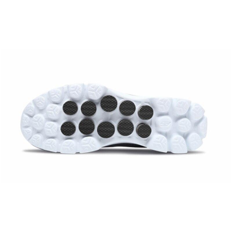 Skechers/Мужская обувь; Лоферы для прогулок; повседневная обувь черного цвета без застежки; Мужская Удобная дышащая обувь на плоской подошве; Мужская брендовая Роскошная обувь; 54062 BKW - 3