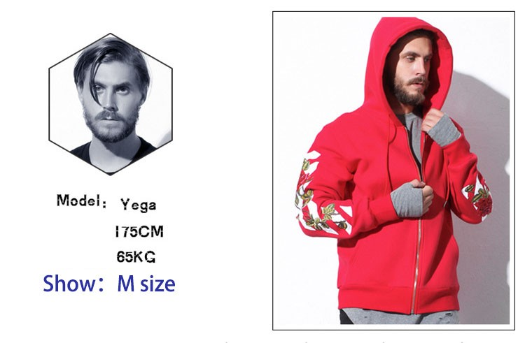 Aolamegs Men Hoodies Fashion Vintage Floral Embroidery Cardigan Jacket Hooded Zipper Outwear Off White Couples Red Black Hoodie (18)