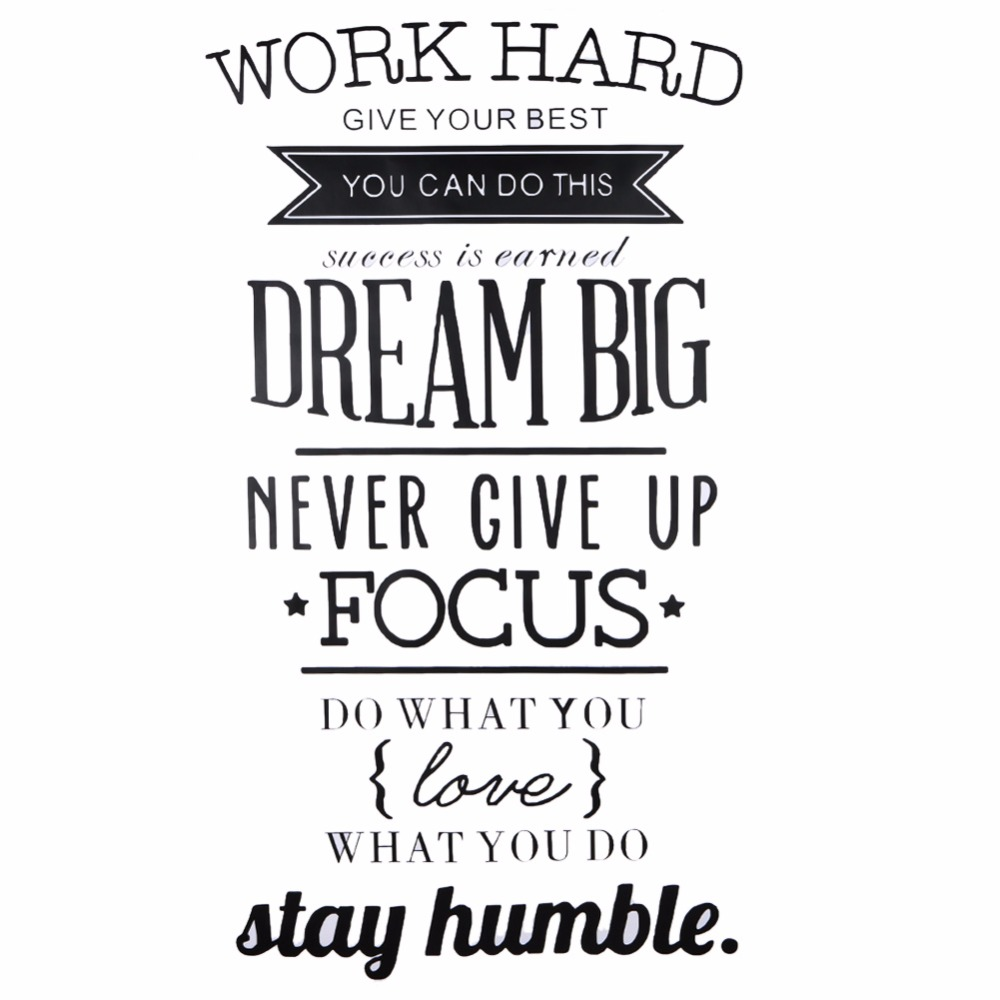Motivational Words Work Hard Letters Vinyl Wall Decal Motivational Words Poster