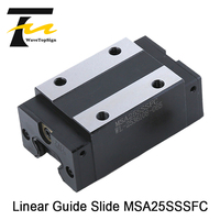 WaveTopSign PMI Linear Guide Slide Carriage Block MSA25SSSFC Slider use for CO2 Laser Machine & Linear Rail CNC Diy Parts