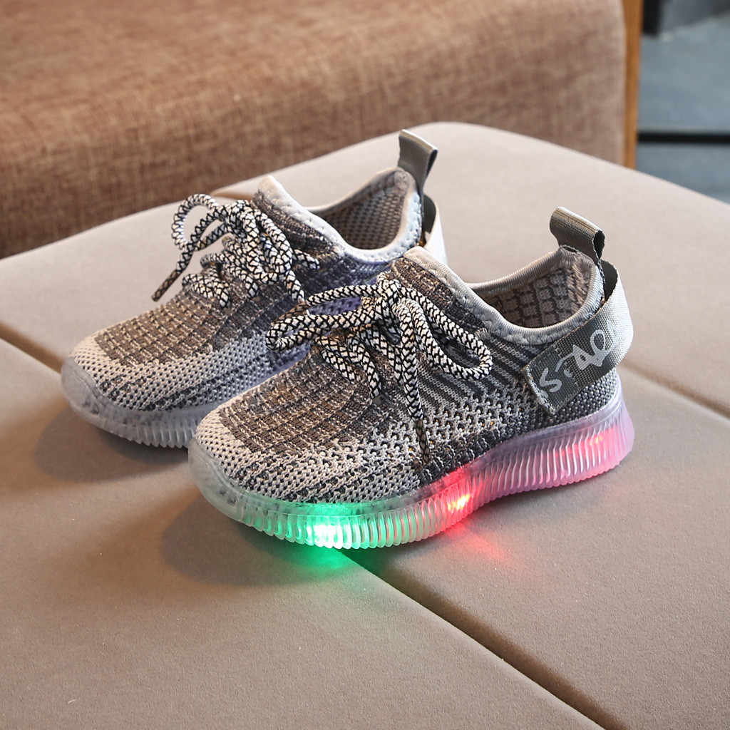 Toddler's Leisure Outdoors Casual Shoes Breathable Children's Mesh Sneaker light up shoes  for girls boys women glowing Sneakers