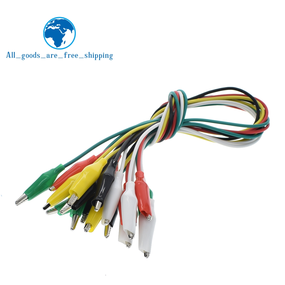 10PCS Alligator Clips 50CM Electrical DIY Test Leads Alligator Double-ended Crocodile Clips Roach Clip Test Jumper Wire