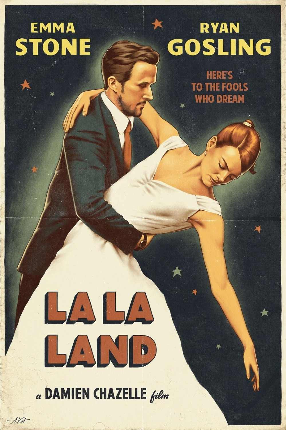 LA LA LAND MOVIE SILK POSTER Wall painting 24x36inch