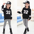 2016 Spring Kids Big Girls Hoodies Casual Children Girls Kids Sweaters T Shirts Children Tops Sportswear Girls Sweatshirts 5-12Y
