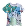 Pettigirl verano chicos de manga corta camiseta con blanco elefante impreso ropa para niños prince niños ropa bt90220-637f