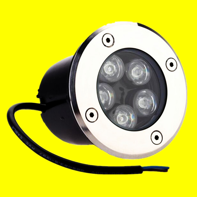 Free Shipping 5w Ip68 Ce Rohs Ac85-260v/dc12v Recessed Lighting Outdoor Lamp Led Spot Floor Garden Yard Led Underground Light Durable Modeling Led Lamps
