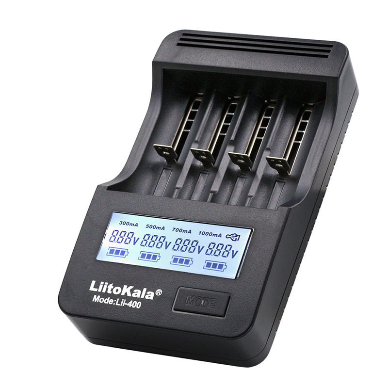 Liitokala Lii-500 LCD Battery Charger, Charging 18650 18350 18500 16340 10440 14500 26650 1.2V AA AAA NiMH Battery