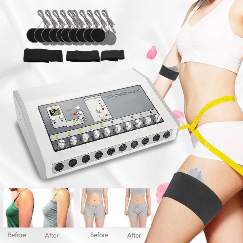 Electric Body Slimming Pulse Massage for Muscle Relax Pain Relief Breast Massager Stimulator Tens Acupuncture Therapy Face Lift new multifunction body massage electric muscle stimulator acupuncture neck back massager tens therapy massage pad relaxation