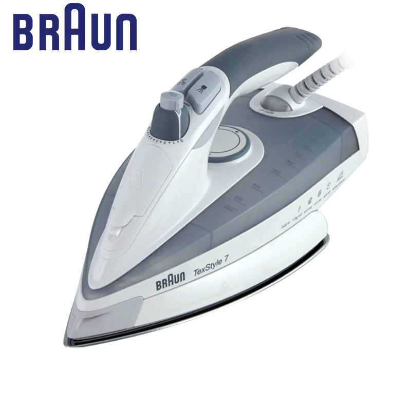 Iron BRAUN TS 775 Textyle Protector electric for ironing steam Household for Clothes Burst of Steam electricsteam electriciron утюг braun ts 775 textyle protector