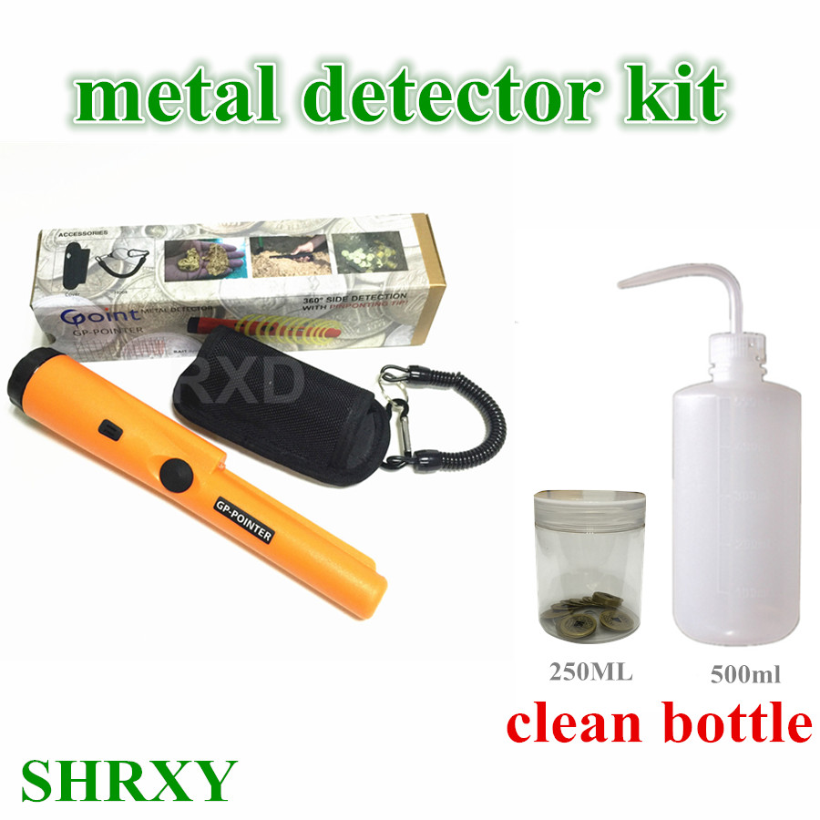2017 NEW Pinpointing Metal Detector GP-pointer Garrett Same Style Static State Gold Metal Detector with Clean Bottle Collect Kit