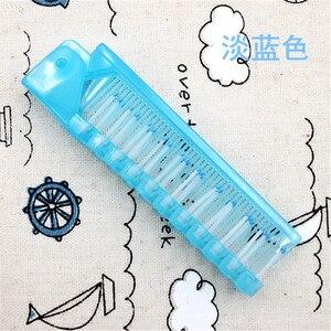 Image 3 - 1 Pcs Einweg Reise Haar Kamm Pinsel Faltbare Massage Anti Statische Tragbare Falten Haar Kämme Friseur Styling Werkzeug