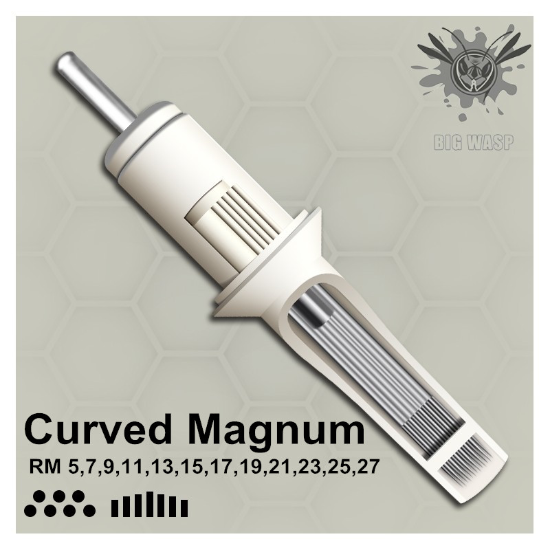 BIGWASP Standard Tattoo Needle Cartridges   Curved Round Magnums 5/7/9/11/13/15/17/19/21/23/25/27RM-in Tattoo Needles from Beauty & Health