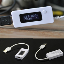 Portable LCD Display font b USB b font Charger Voltage and Current Detector Mobile Power Charger