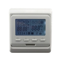 220V AC LCD Weekly Programmable Floor Heating Temperature Regulator Room Air Thermostat With Sensor