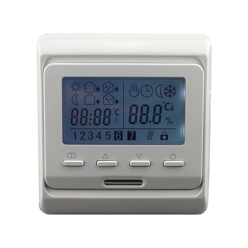 220V AC LCD Weekly Programmable Floor Heating Temperature Regulator Room Air Thermostat with Sensor sokolov золотые серьги с куб циркониями nd027139