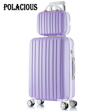 24+12inch New flooring like sandpaper stripes trolley suitcase items/ 20″ boarding baggage/10Colors frequent wheels trolley candy