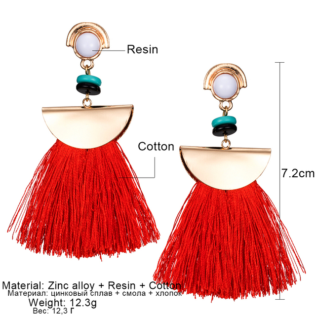 KISS WIFE 2017/Brand Drop Earrings For Women Bohemian Ethnic Big Long Tassel Earrings Wholesale Fashion Jewelry Style Earrings F 1