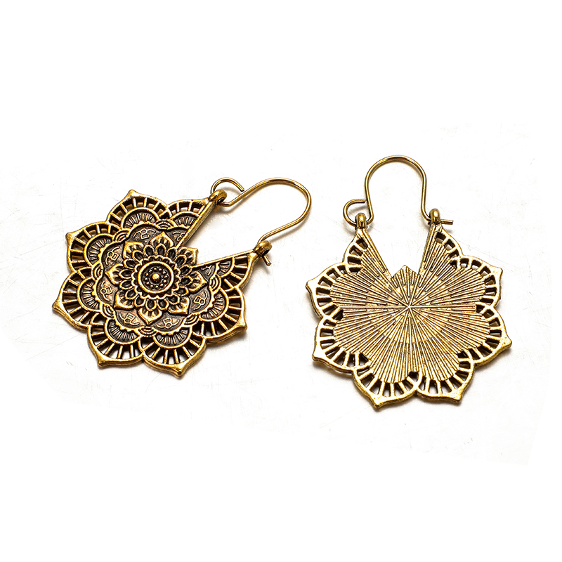 Women's Lace Mandala Drop Earrings 4