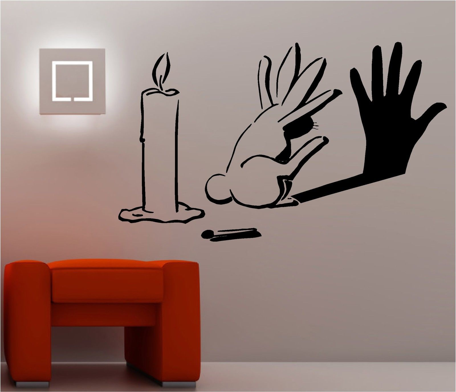 Graffiti wall art bedroom - Rabbit Shadow Graffiti Wall Art Sticker Lounge Bedroom Kitchen Banksy Style Free Shipping China