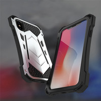 Armor Phone case for iPhone X/7/7 plus aluminum alloy frame TPU tray screen protector For iPhone 8/8 plus phones bumper sleeve