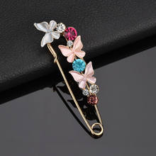 2017 Hot Fashion Colorful Butterfly Brooches for Women Rhinestone Brooch Pin Badge 2018 New Fashion Jewelry drop shipping(China)