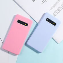 Candy Color Case For Samsung Galaxy S10 Plus Cases For Samsung S7 S9 S8 Edge Plus A50 A6 A8 A7 2018 A3 A5 A7 2017 Soft TPU Cover все цены