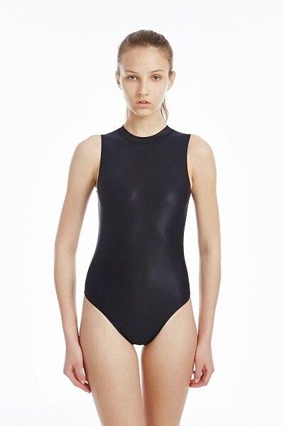 c292c0e77 واحد قطعة ملابس السباحة عالية الياقة ملابس للنساء سباق والتدريب swmwear