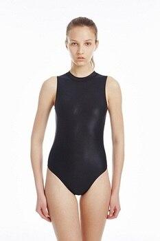 one piece women's swimwear high collar swimwear for women racing and training swmwear