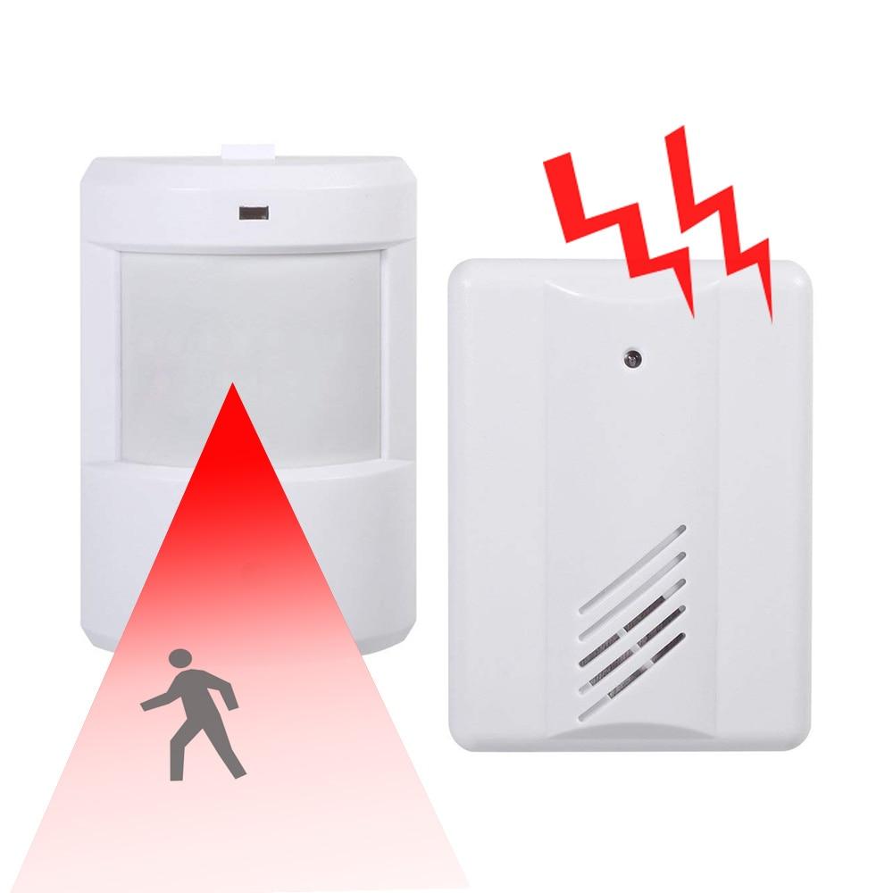 PIR Infrared Sensor Wireless Doorbell Remote Control Motion Detector Alarm Home Security System Garage Driveway Patrol Detector
