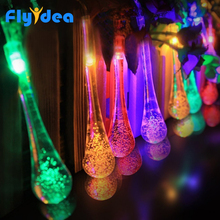 christmas lights outdoor LED Water Dorp ball string New Years garland holiday wedding party decorative lights 5M 20 LED Solar