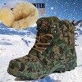 2017 Камуфляж ботов военные сапоги Зима Снег Сапоги Мужские Сапоги и водонепроницаемый теплый кашемир и шерсть обувь в трубе