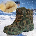 2017 Camouflage bots military boots Winter Snow Boots Mens Boots and waterproof warm cashmere and wool shoes in tube