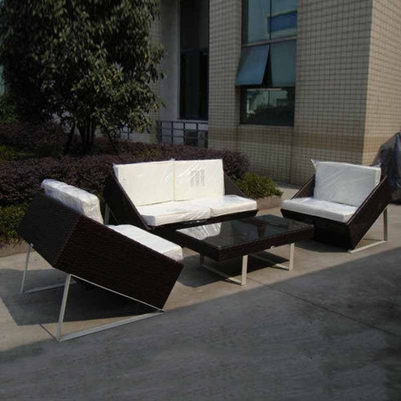 4-pcs new design wicker sofa Pastoralism Home Indoor / Outdoor Rattan Sofa For Living Room home rattan sofa set furniture wicker sofa set for living room