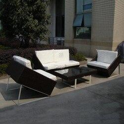 4-pcs new design wicker sofa Pastoralism Home Indoor / Outdoor Rattan Sofa For Living Room