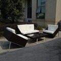 4-pcs nuevo diseño sofá de mimbre pastoralismo hogar/al aire libre Rattan sofá para sala de estar