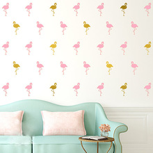 Dream home 2736 children bedroom background wall decoration DIY handmade posters flamingo