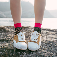 2018 Sexy Summer Women's Harajuku Black Mesh Short Ankle No Rules Socks Grid Fishnet Docks Funny Ladies Socks In The Net Sokken