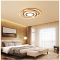 Conduziu a lâmpada do teto marrom criativo Nordic quarto sala Iluminação Interior RC Pode Ser Escurecido luz Pingente