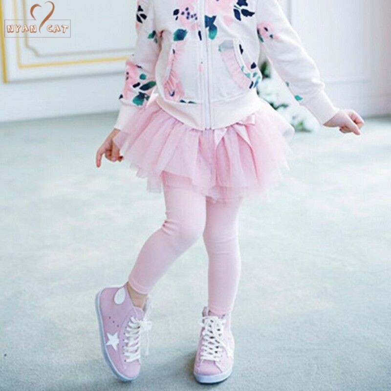 Drop ship Toddler Kids Little Girl's Autumn Tutu Spódnica Legginsy Children Wear baby girls clothes Spodnie Princess christmas Tiers