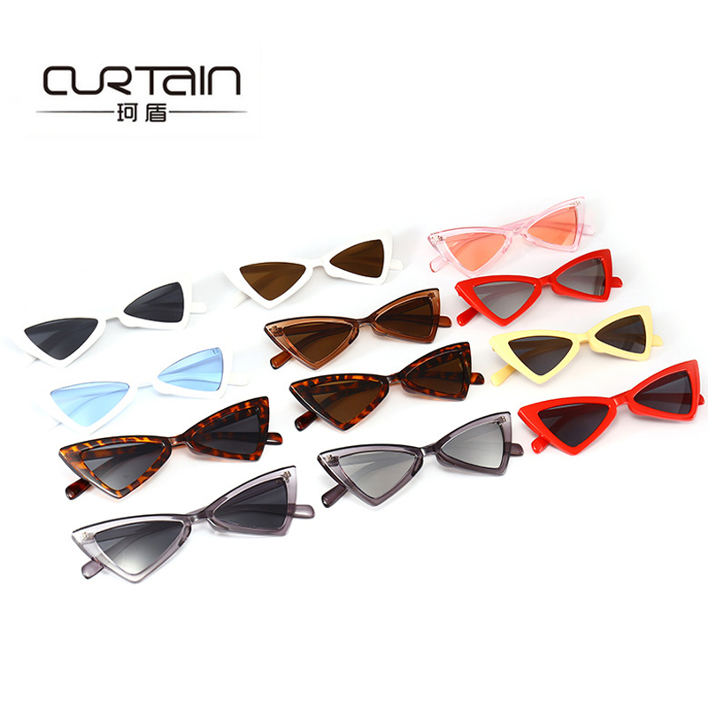 2018 New Butterfly Shaped Fashion women Sunglasses Triangle UV400 glasses 14 colors Female Vintage Brand designer oculos N141