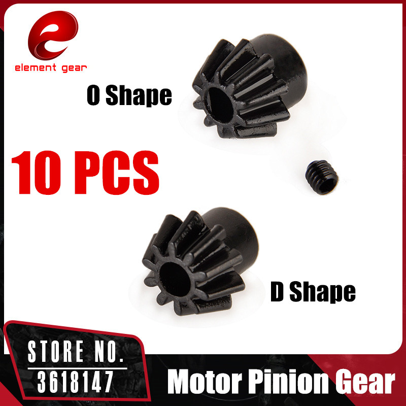 10pcs/lot Element Gear Motor Pinion Gear (type O/ Type D) for Airsoft AEG Motor Hunting Accessories GB06002/GB06001|gear motor|gear gear|gears gears gears - title=