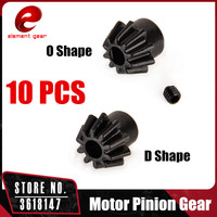 10pcs Lot Element Gear Motor Pinion Gear Type O Type D For Airsoft AEG Motor Hunting