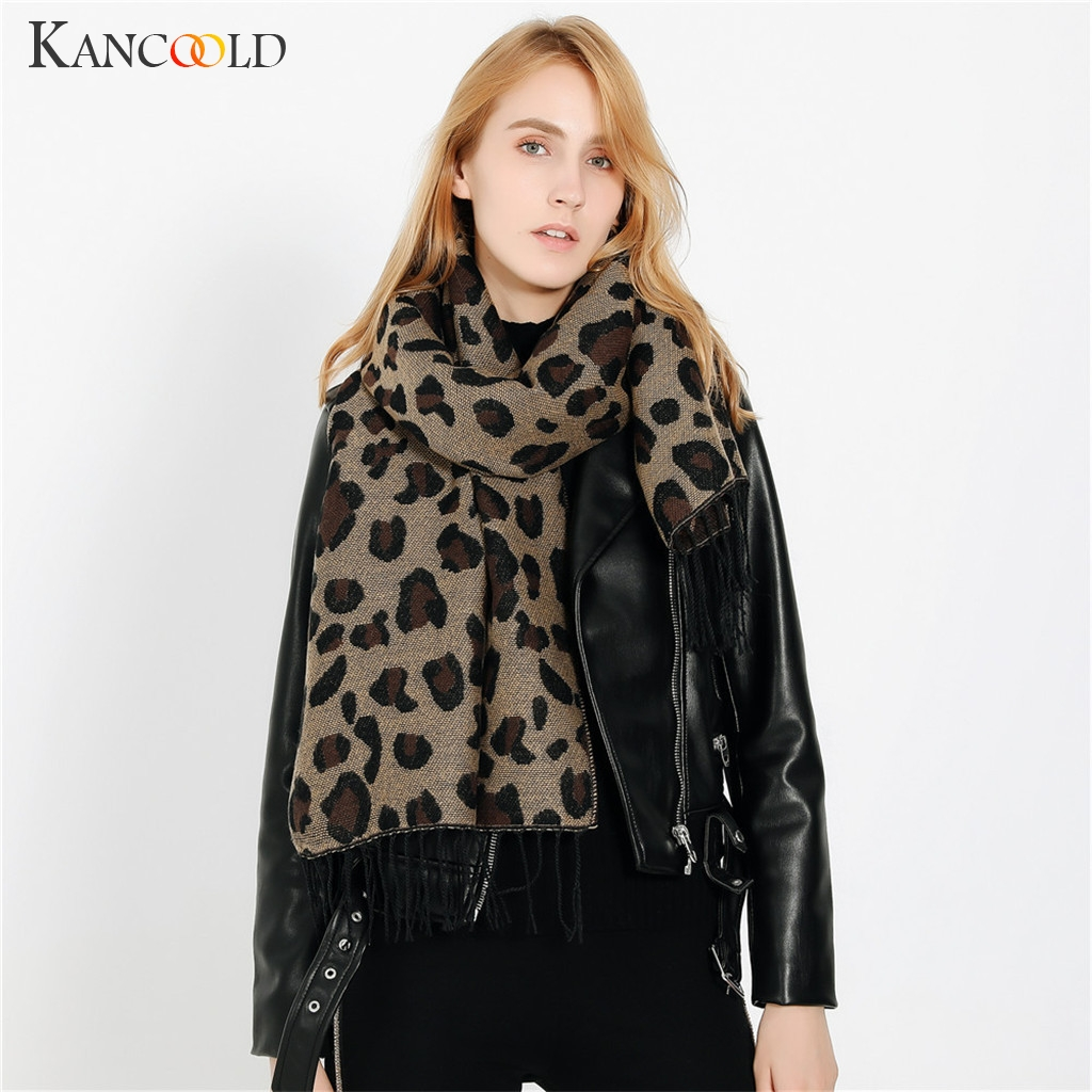 KANCOOLD   Scarf   women Leopard Print   Scarf     Wrap   Shawls Headband Soft Shawl Long fashion casual   Scarf   Women 2018Nov21
