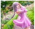 OHCOS Re Zero kara Hajimeru Isekai Seikatsu Emilia Pink Cosplay Dresses Costume