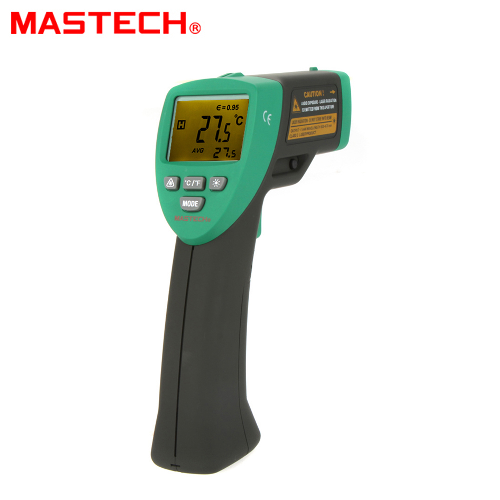 MASTECH MS6530 12:1 Non-contact Infrared IR Thermometer Laser Temperature Gun Meter Sensor Range -20~537 Degree mastech ms6530a d s 12 1 non contact infrared thermometer ir temperature gun with laser pointer tester 20c 850c