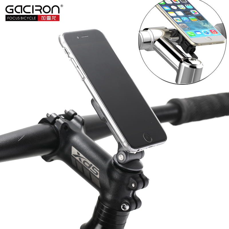 Gaciron 2IN1 Bicycle Phone Holder Cycling Mobile Phone Stand Mount For MTB Road Bike Motorcycle Installed On Handlebar And Stem gub plus 6 aluminium alloy mobile phone holder stands handlebar for bicycle motorcycle mtb road bike gps phone holder