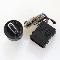 A STYLE Chrome Head Light Switch Auto Sensor Module For VW Passat B5 Golf 4 MK4