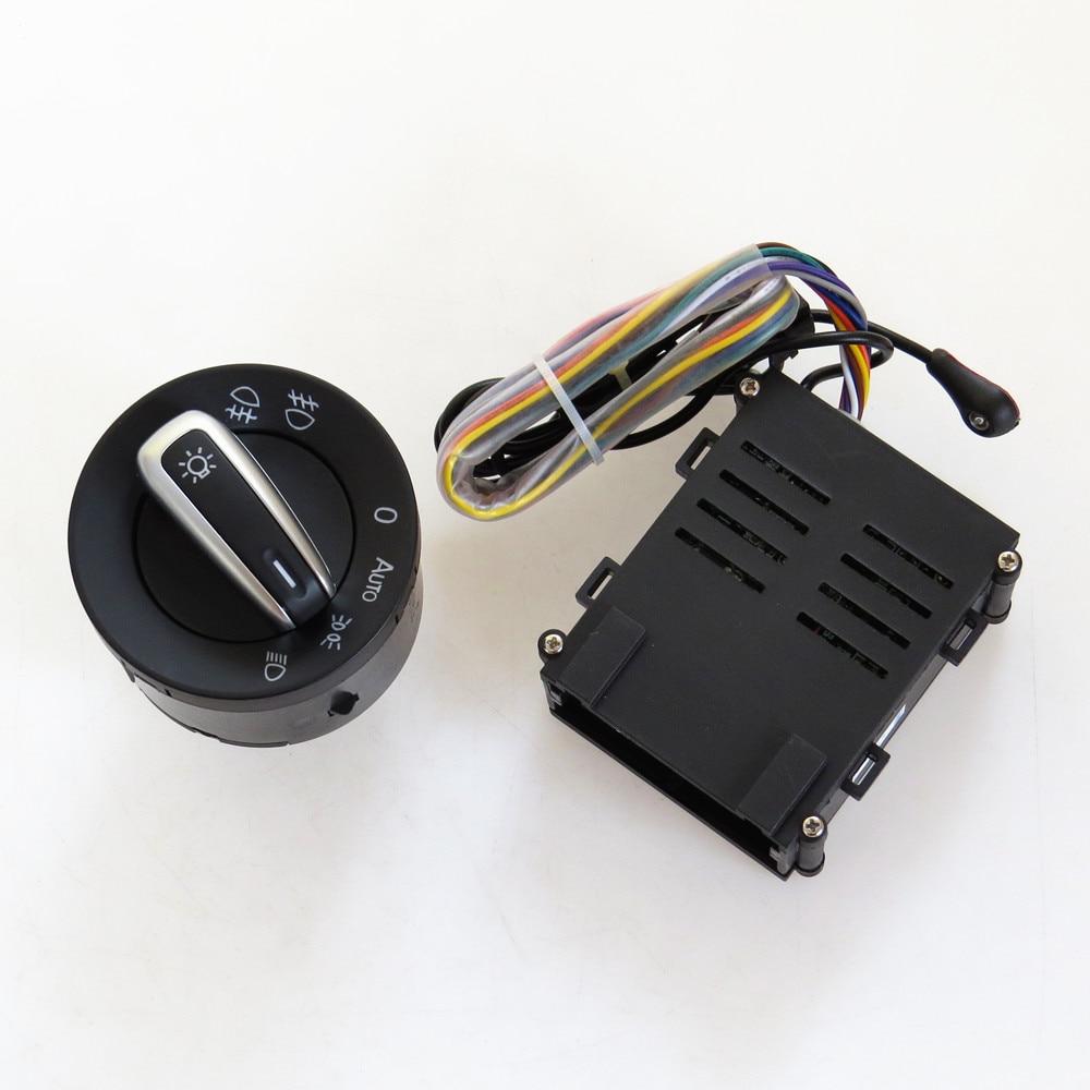 READXT Car light Switch Chrome Auto Headlight HeadLamp Switch lights Sensor For Passat B5 Bora Golf 4 MK4 Polo Beetle santana